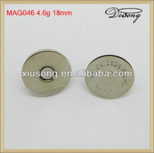 MAG046 metal smooth of magnetic buttons for bags