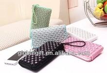 Candy color pearl phone bag wallet bag