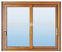 High quality Popular Design Double Glass aluminium Sliding Window