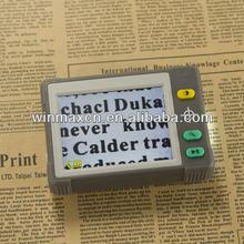 3.5 pulgadas de mano portátil lcd digital lupa con 7 colores de la pantalla, li-ion de la batería alimentado