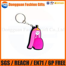 Custom princess girl key chain, key ring for promotional