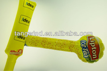 eco-friendly custom inflatable led light up cheering stick / football fans stick