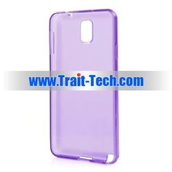 Glossy Flexible Translucent Soft Gel TPU Case For Samsung Galaxy Note 3 N9000 N9002 N9005