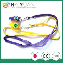 plain shoelace lanyard with plastic whistle