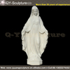 White Marble Statue For Virgin Mary