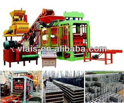 Hot Sale High Productivity Brick Making Machine, block forming machine, QT6-15 concrete paving b ...