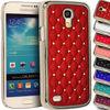 Diamond Bling Chrome Rhinestone Hard Case Cover For Samsung Galaxy S4 Mini i9190