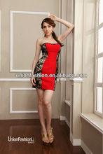 Sin tirantes atractivo de la alta calidad especial vestido de partido corto vestido de fiesta vestidos noche 2015 caliente venta