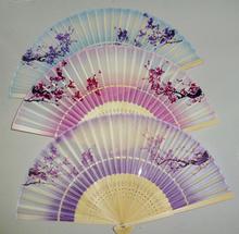 wholesale silk folding fan/2014 new fan/promotional gift/ woman gifts