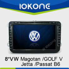 8 Inch Double Din Car Radio Music Player for VW Golf V/Passat B6/CC