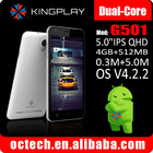 G501 chinese hot cheap android 4.2 MT6572 gps wifi touch screen mobile themes