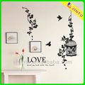 moderno diseño de la mariposa extraíble pegatinas de pared decoración de hogar