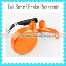orange Unviersal Model full set of brake Reservoir For YAMAHA R1/R6/FZ1/FZ6/FZ8/FJR 1300/R6S/VMAX