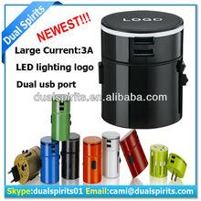 5v3a led lighting universal usb travel adapter,universal usb travel adaper with uk/us/eu/au plug