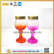12oz 16oz with glass stem glass mason jar MJ-6609
