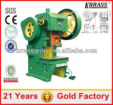 J21 J23 series mechanical power press, mechanical hole punch machine , power press machine rates