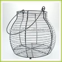 金属製の卵のバスケットワイヤーエッグバスケット鶏の卵のバスケット