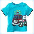 2014 venta caliente 100% de bebé de algodón t- shirt diseño del tinte de sublimación t- shirt de impresión carreteros al por mayor ropa del bebé