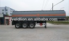 3 axles plastic- lined steel chemical liquid tanker trailers, trailers for ACID,HCL, NaOH ,NaCIO H2SO4