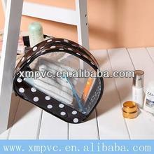 polka dot transparent practical makeup plastic zipper bag XYL-D-Z324
