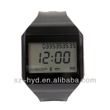 New Answer call Music Time Voice Dial LCD BQB V3.0 Handsfree bluetooth watch mp3 player