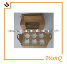 6 holds PVC windows Kraft art paper Cupcake boxes