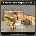 Contemporáneo de madera del zapato estante de exhibición, desde la fábrica 2000