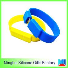 fashion USB wristband promotional gifts blank silicone usb bracelet