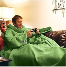 Nice Soild Large Polar Fleece Snuggie Blanket, Sleeve TV Blankets Using When Watching TV