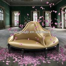 Elegante stile francese divano circolare in Golden, conversazione salone- bf11-0329a