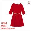 Elegant half sleeve red christmas dresses