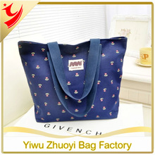 2014 New Women Small Floral Print Tote Shopping Bags