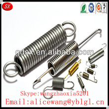 Customized high precision stainless steel/spring steel tension spring,extension spring,double hook tension spring in China