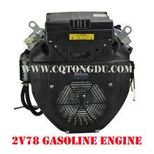 Powerful engine 2V78F, mini v twin engine OHV V-twin cylinder 22hp petrol engine