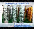 Golden flower design laminated pvc tablecloth roll,printed pvc tablecloth rolls,heat transfer film