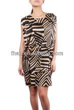 Lastest style high fashionble ladies causel dress fashion women dress