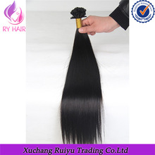 2015 cheapest large stock virgin remy unprocessed fashion european hair extensions pre-bonded hair