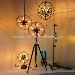 Vintage Light Fan Shape Industrial Loft Pendant Lamp with Edison Bulb