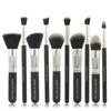 New Product Best Quality Wood Handle Aluminiun Tube 10pcs Makeup Brush Set Wholesale