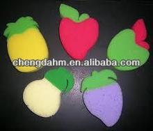fruit shaped sponges