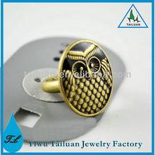 Latest Round Metal Owl Ring