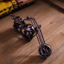 ferro retrò ornamenti in metallo texturizzato scorrevole rotante in metallo modello di moto b0727 nero