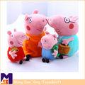 de haute qualité 2014 jouet en peluche animaux rembourrés en peluche poupée peppa pig famille bébé cochon jouets pour les enfants