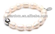 Stainless steel fashion bracelet tapioca pearls
