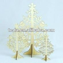 beautiful wood carving christmas tree decoration