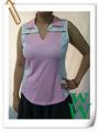 de la mujer de secado rápido chaleco deporte poli de golf ropa de moda de estilo agradable adaptarse a la fabricación de vietnam