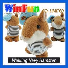 Plush X Hamster Russian Version Walking Navy Talking Hamster Toy For Children