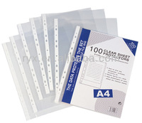 china stationery supply clear sheet protector