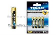by Big factory lr03 size aaa 1.5v alkaline battery in shenzhen with good quality