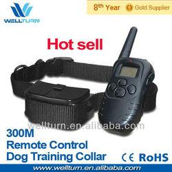Braided Leather Collars Dog & Dog Traning Collar + 300 M Range